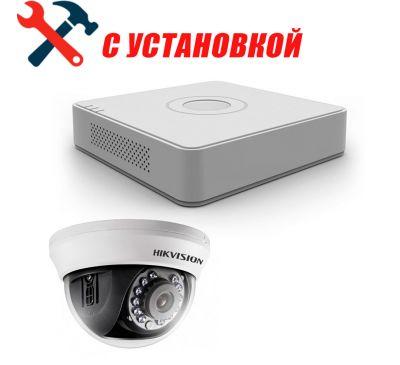 1 Мп Готовый комплект аналогового видеонаблюдения на 1 камеру Hikvision