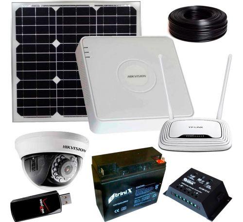 1 Мп Комплект видеонаблюдения 1 камера 3G и солн панель