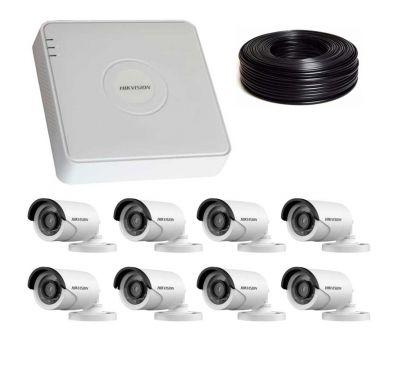 1 Мп Комплект видеонаблюдения DS-7108HQHI-K1/DS-2CE16C0T-IRF