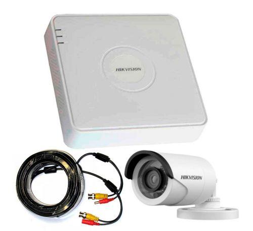 1 Мп Комплект внешнего видеонаблюдения Hikvision 1 камера 1Mp