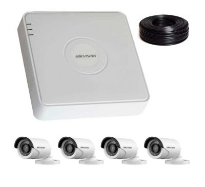 2 Мп Комплект видеонаблюдения DS-7104HQHI-K1/DS-2CE16D0T-IRF