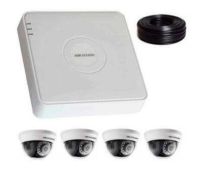 2 Мп Комплект видеонаблюдения DS-7104HQHI-K1/DS-2CE56D0T-IRMMF