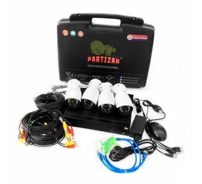 2 Мп Комплект видеонаблюдения Partizan  Outdoor Kit 4xAHD