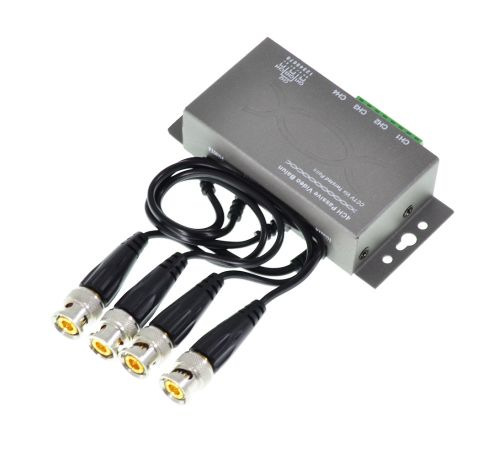 4-х канальный пассивный приемопередатчик видео балун  SVS-T304