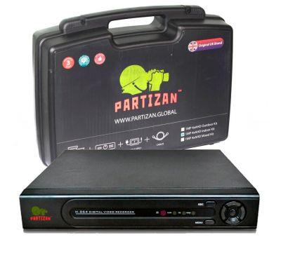 AHD видеорегистратор  Partizan ADM-44U HD и монтажный комплект