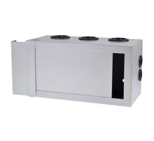 Антивандальный металлический ящик (шкаф) БК-160-3U-пенал. С гермовводами в комплекте