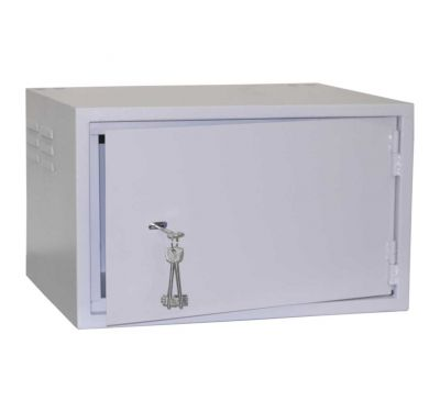 Антивандальный металлический ящик (шкаф) БК-520-7U-з-петли