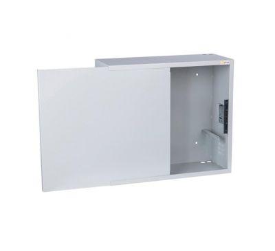 Антивандальный металлический ящик (шкаф) БК-550-2U-з-пенал усиленный ст 1.8 мм