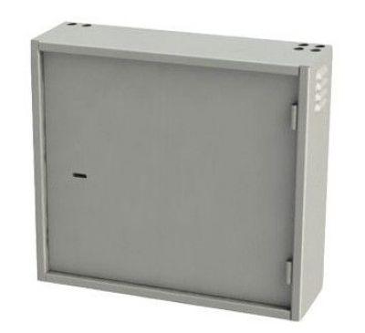 Антивандальный металлический ящик (шкаф) БК-550-2U-з-петли усиленный ст 1.8 мм
