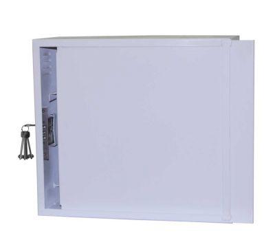 Антивандальный металлический ящик (шкаф) БК-550-3U-з-пенал усиленный ст. 1,8 мм