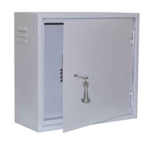 Антивандальный металлический ящик (шкаф) БК-550-3U-з-петли
