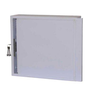 Антивандальный металлический ящик (шкаф) БК-550х400-2U-з-пенал (Lite)