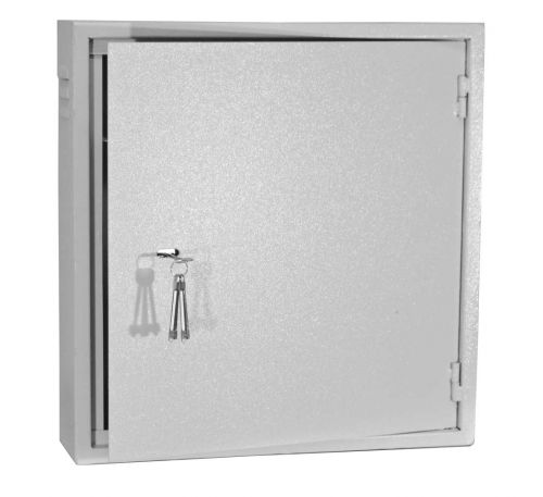 Антивандальный металлический ящик (шкаф) БК-550х570-2U-з-петли (Mega)