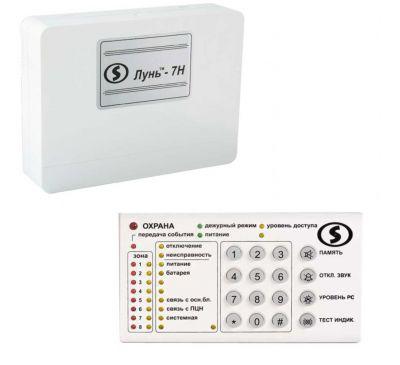 Беспроводной прибор приёмно-контрольный охранно-пожарный «Лунь-7Н» с клавиатурой