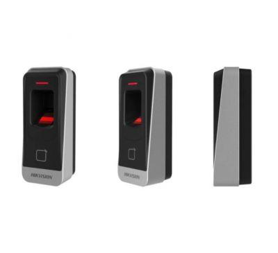 Биометрический считыватель бесконтактных карт Hikvision DS-K1201MF (Mifare)