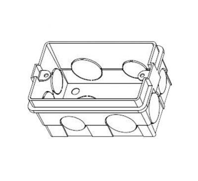 Бокс для врезного монтажа домофонов Hikvision DS-KAB118