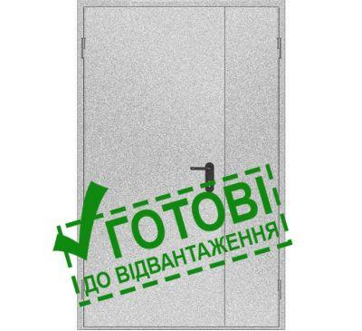 Двери противопожарные металлические глухие ДМП ЕІ30-2-2100х1200 лев., ЕвроСтандарт