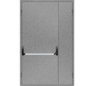 """Двери противопожарные металлические глухие ДМП ЕІ60-2-2100х1200 """"антипаника"""", ЕвроСтандарт"""