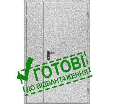 Двери противопожарные металлические глухие ДМП ЕІ60-2-2100x1200 прав., ЕвроСтандарт
