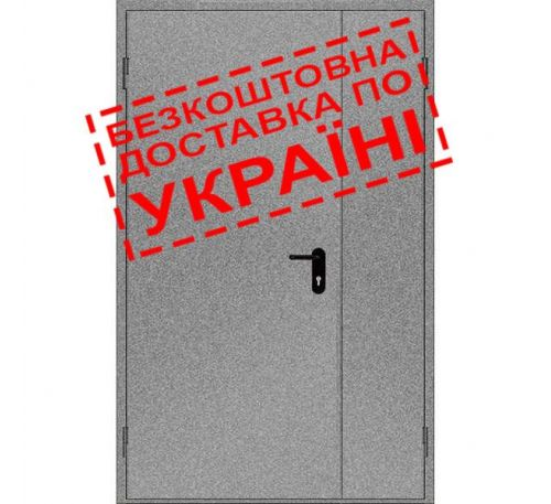 Двери противопожарные металлические глухие ДМП ЕІ60-2-2100x1350 лев., ЕвроСтандарт