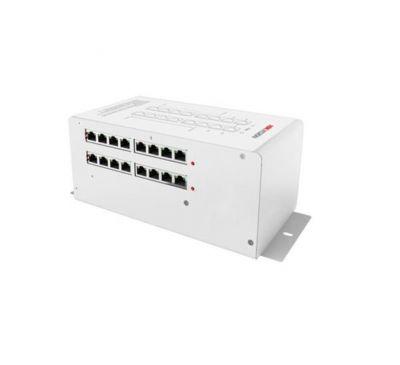Passive PoE 12 портовый коммутатор для IP домофонных систем Hikvision DS-KAD612