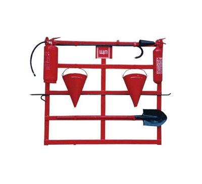Щит пожарный открытого типа (с комплектацией багор/лом/лопата/топор/ведро 2)