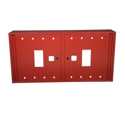 Шкаф пожарный ШП 12060 У навесной, без задней стенки, без кассеты, Красный, 1200х600х230