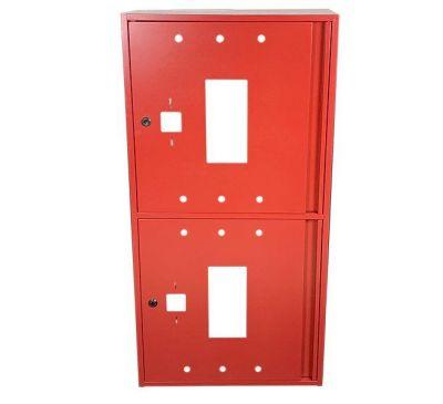 Шкаф пожарный ШП 60120 У навесной, без задней стенки, без кассеты, Красный, 600х1200х230