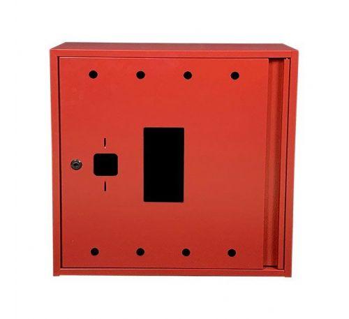 Шкаф пожарный ШП 6060 У-С навесной, с задней стенкой, без кассеты, Красный, 600х600х230