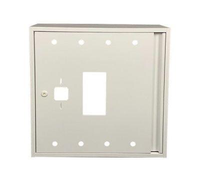 Шкаф пожарный ШП 6060 У навесной, без задней стенки, без кассеты, Белый, 600х600х230