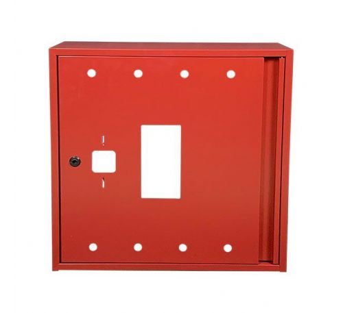 Шкаф пожарный ШП 6060 У навесной, без задней стенки, без кассеты, Красный, 600х600х230