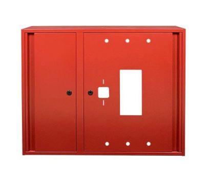 Шкаф пожарный ШП 9070 У навесной, без задней стенки, без кассеты, Красный, 900х700х230
