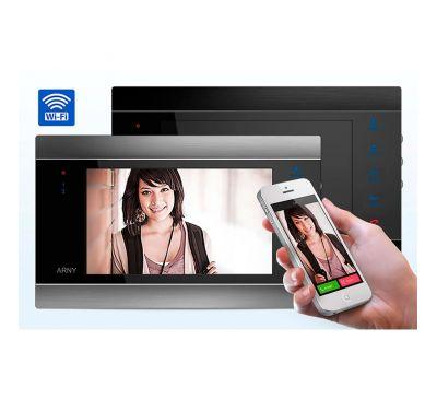 Wi-Fi IP видеодомофон ARNY AVD-720M Серебро