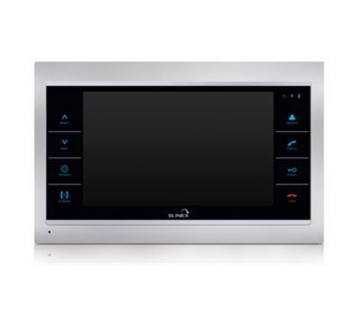 Wi-Fi IP видеодомофон Slinex SL-10IPT серебро-чёрный