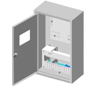 Ящик учета и распределения электроэнергии ЯУР-3В-12 (profi) встраиваемый, 320x550x165