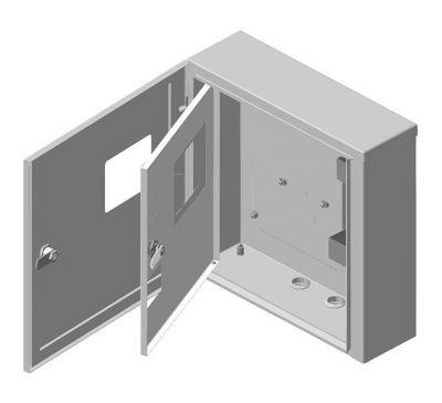 Ящик учета и распределения электроэнергии ЯУР-У4 навесной, 400x370x136